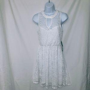 As U Wish Sleeveless Lace Mini Dress S
